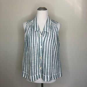 Anthropologie Holding Horses Striped Blouse